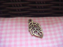 Leaf Charm (Antique Bronze)