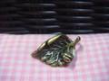 Leaf with Lady Bug (Antique Bronze)