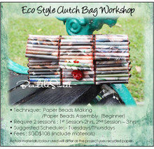 Paper Beads Making Course : Eco Style Clutch Bag Workshop