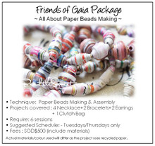 Paper Beads Making Course : Friends of Gaia Workshop