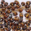 SuperDuo Beads 2.5X5MM Amber Picasso