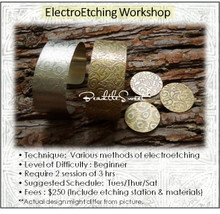 Jewellery Making Course : ElectroEtching Workshop