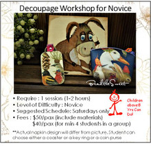 Decoupage Workshop for Novice