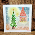 Nagomi Pastel Art : Fireplace Christmas Tree