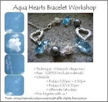 Aqua Hearts Bracelet Workshop
