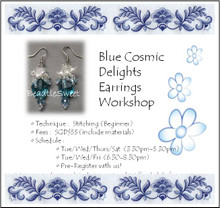 Blue Cosmic Delights Earrings Workshop