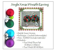 Jewelry Making: Jingle Xmas Wreath Earring Workshop
