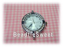 Silver Crystal Watch Face for Jewelry Making