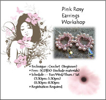 Jewelry Making: Pink Rosy Earrings Workshop