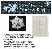 Jewelry Making: Snowflake Earring or Snowflake Ring Workshop
