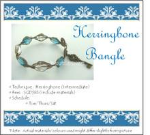 Jewellery Making Course: Herringbone Bangle