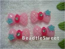Pink Ribbon Nail Accessory