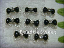 Black Ribbon Nail Accessories