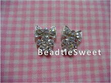 Crystal Bow Nail Accessories