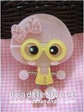 Pink CaiCai in Yellow Dress Decoden