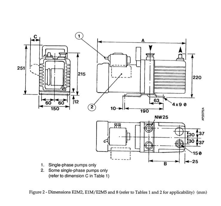 Reconditioned Edwards E2M5 Vacuum Pump