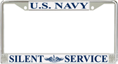 Silent Service Metal License Plate Frame