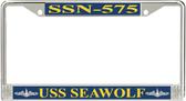 USS Seawolf SSN-575 License Plate Frame