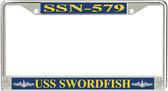 USS Swordfish SSN-579 License Plate Frame