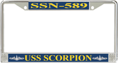 USS Scorpion SSN-589 License Plate Frame