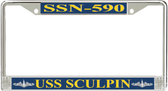 USS Sculpin SSN-590 License Plate Frame