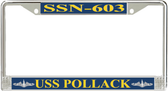 USS Pollack SSN-603 License Plate Frame