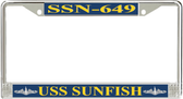 USS Sunfish SSN-649 License Plate Frame