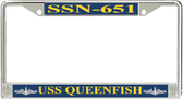 USS Queenfish SSN-651 License Plate Frame