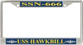 USS Hawkbill SSN-666 License Plate Frame