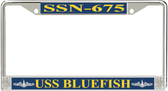 USS Bluefish SSN-675 License Plate Frame