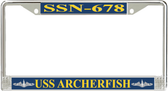 USS Archerfish SSN-678 License Plate Frame