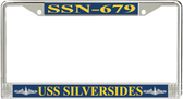 USS Silversides SSN-679 License Plate Frame