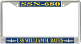 USS William H. Bates SSN-680 License Plate Frame