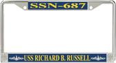 USS Richard B. Russell SSN-687 License Plate Frame