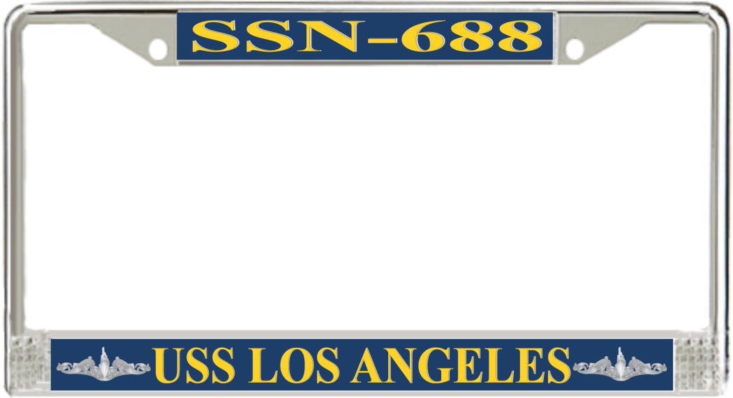 USS Los Angeles SSN-688 License Plate Frame - Submarine Ship\'s Store