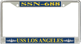 USS Los Angeles SSN-688 License Plate Frame