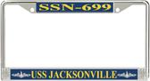 USS Jacksonville SSN-699 License Plate Frame