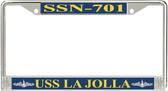 USS La Jolla SSN-701 License Plate Frame