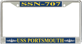USS Portsmouth SSN-707 License Plate Frame