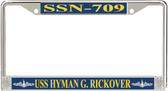 USS Hyman G. Rickover SSN-709 License Plate Frame