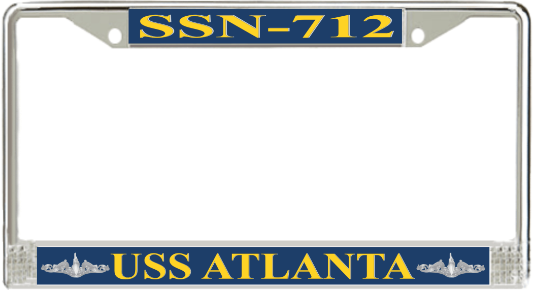 USS Atlanta SSN-712 License Plate Frame - Submarine Ship\'s Store