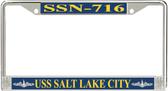 USS Salt Lake City SSN-716 License Plate Frame