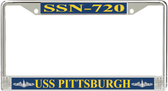 USS Pittsburgh SSN-720 License Plate Frame