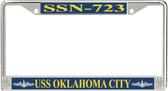 USS Oklahoma City SSN-723 License Plate Frame