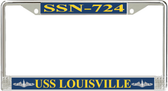 USS Louisville SSN-724 License Plate Frame