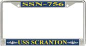 USS Scranton SSN-756 License Plate Frame