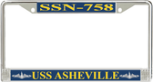 USS Asheville SSN-758 License Plate Frame