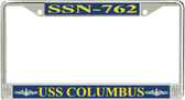 USS Columbus SSN-762 License Plate Frame