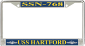 USS Hartford SSN-768 License Plate Frame
