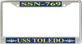 USS Toledo SSN-769 License Plate Frame